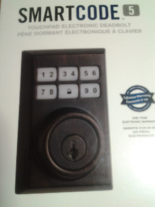 NEW WEISER TOUCHPAD ELECTRONIC DEADBOLT 5