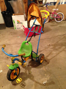 HUFFY children's trike with push handle