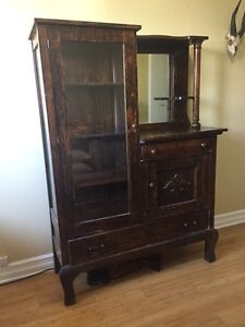 Antique Side by Side / Wooden Hutch - Solid Maple