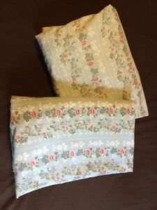 Jessica McClintock Blue Roses Twin Flat And Fitted Sheets Floral London Ontario image 1