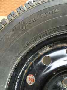 WINTER TIRES MotoMaster Total Terrain 235/70R16 on Steel Rims Cambridge Kitchener Area image 4