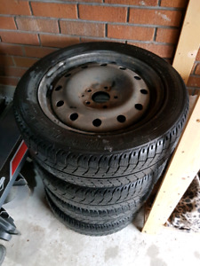 Used winter tire on rims for mazda 5