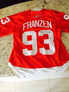 Authentic autographed Franzen jersey