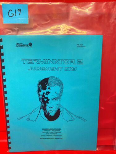 Terminator 2 Judgment Day Williams Pinball Operation/Service/Repair Manual G19