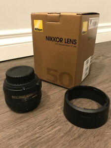 Nikon Prime Lens 50 mm F/1.4 – Mint condition, in box