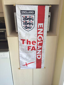 BIG ENGLAND FA SOCCER BANNER! PERFECT CONDITION