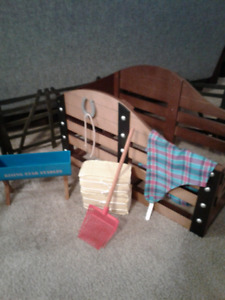 Authentic American Girl Stable and Supplies