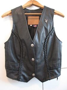 Women's Walter Dyer Motorcycle Vest  Size Small