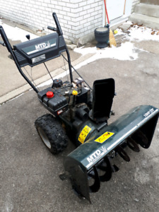 snowblower 10hp 29 inch big tires