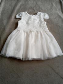 White/cream christening dress