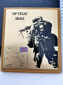Iraq presentation plaque