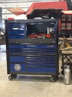 Matco 6s tool chest with half hutch