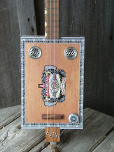 Electric cigar box guitars, hand made in Kitchener