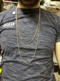 9ct gold belcher longard chain 40inch