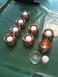 Candle Holders NEW With Glass inserts 3 different patterns 8 lot Kitchener / Waterloo Kitchener Area image 1