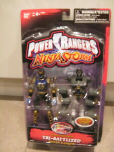 Power Rangers Ninja Storm: Navy Thunder Tri-Battlized Action Fig