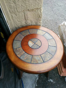 Round Table with Stones