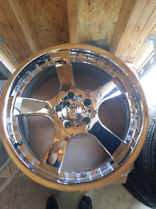 "20"" 5X120 CHROME RIMS"