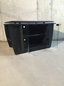 TV/Media Console with Storage - Black