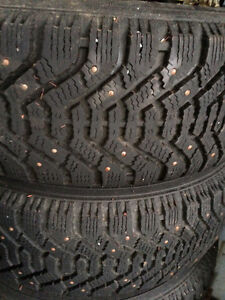 Goodyear Winter Tires Studded 205/60/15 Rim 5x114.3