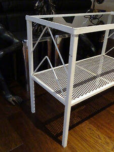 SHABBY wrought iron hallway console table stand ENGLISH baby's Cambridge Kitchener Area image 3