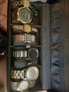 Collection of men's and women's watches