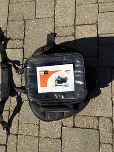 Tank bag with magnetic and or strap attachment