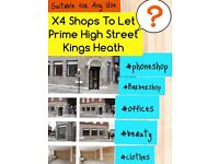 Shop to let - Kings Heath - 2 Shops Remaining - Don't miss out!! High Street