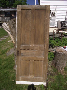 "Antique ""Original finish one side"" 5 panel door."