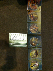 Rambo 1,2,3,4 tin steelbook box set like new PAL region 2