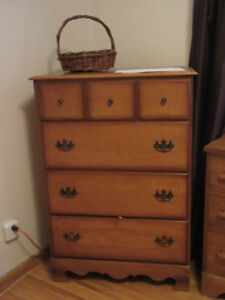 Bedside Table and Matching Chest of Drawers