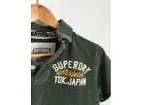 Men's dark green SUPERDRY t-shirt (XL)