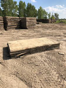 Used 8X14'  Wooden Swamp Access Matting For Sale