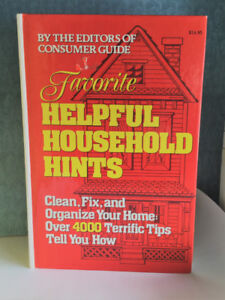 Favorite Helpful Household Hints Hardcover Book - Grt Cond!
