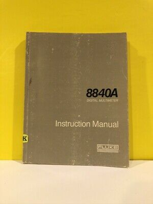 Fluke 684365 8840a Digital Multimeter Instruction Manual