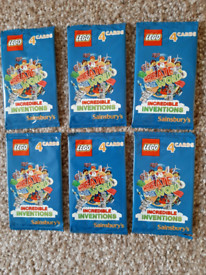6 x PACKS OF SAINSBURY'S LEGO CARDS - BRAND NEW