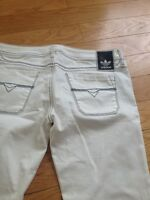 WHITE ADIDAS MENS JEANS! ONLY WORN ONCE