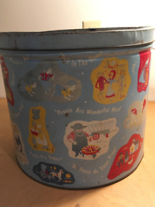 Large Decorative Tin, store children's toys or family blankets
