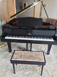 Steigerman black laquer baby grand with bench