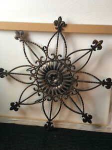Cast iron candle holder outdoor or indoor