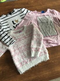 Girls jumpers & top 12-18 months