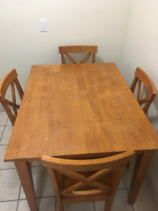 4 person kitchen table - chairs included.  $50, OBO