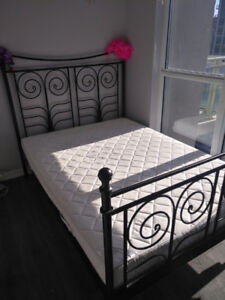 Bed frame (double) - $120, must go today or tomorrow
