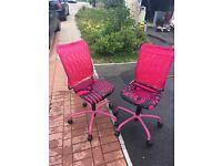 Ikea pink desk chair on wheels pair will separate