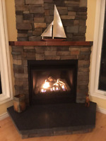 Fireplace, furnace and ac installation