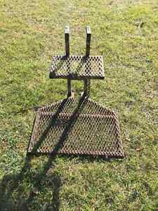 Tree stand and ladder for hunting deer or moose.