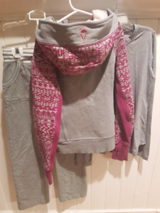 Ivivva hoodie / long T and Triple Fit pants size 10