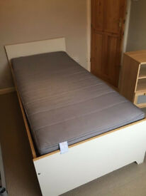 IKEA white single bed frame ROBIN, can deliver