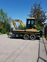 Excavator for hire comes with dump trailer and experienced  oper