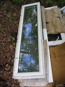 Used Thermal Double Glass Vynle Windows Large Bay + Side mixed